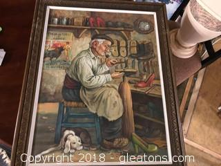 Shoe Cobbler Painting