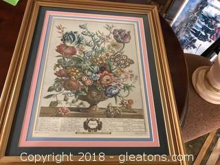 'April' Seasonal Framed  Print