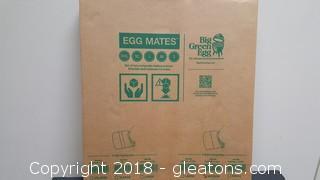 """Composite Shelves Egg Mate For Medium Big Green Egg """"New In Box"""" (2)"""