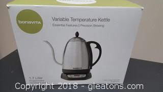 "Bonavita ""New In Box"" Variable Temperature Kettle"