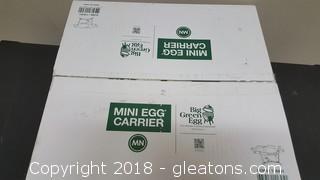 """Mini """"New In Box"""" Egg Carriex In Box For Big Green Egg"""