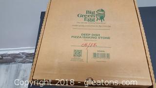 Big Green Egg Deep Dish Pizza/Baking Stone