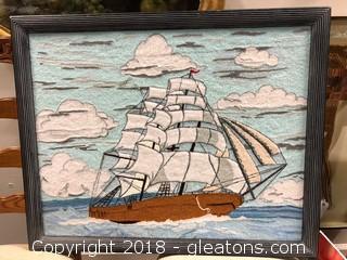 'Fredrix' Nautical Framed Room Decor