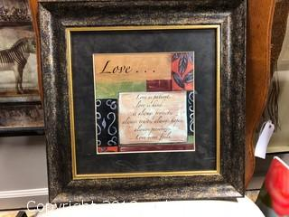 "13x13"" 1 Corinthians 13:4 Definition Of Love Framed"