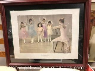 'The Ballet Class' By Gail Godwin Framed Print