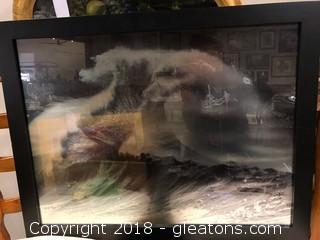 Framed Ocean Image
