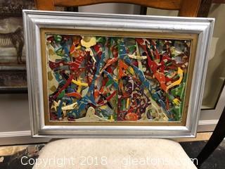 """19""""x13"""" Framed 3D Art"""