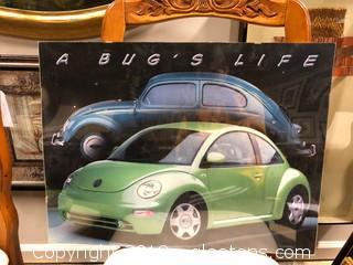 """A Bug's Life"" Volkswagen Beetle Retro Frame"