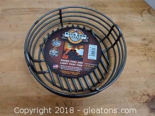"American Made ""Kick Ash Basket"" Charcoal Basket New 10"""