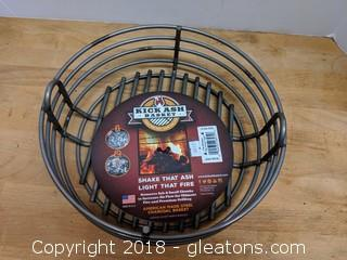 "American Made ""Kick Ash Basket"" (B) Charcoal Basket New 10"""