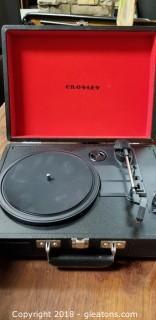 Crosley Portable Record Player Plus Box Of Vintage Records