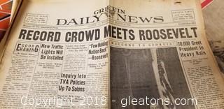 Vintage Priceless Newspapers