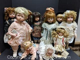 Collection Beautiful Porcelain Dolls