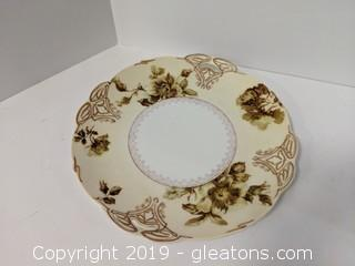 Vintage Plate Hermann Ohme Silesia Pattern
