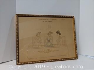"Cartons Mondains ""Cir"" Rue Miromesnil Paris Framed Print"