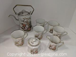 Lovely Delicate Floral Oriental Tea Service