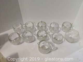 Set Of 8 Nestle Nescafe World Globe Coffee Cups