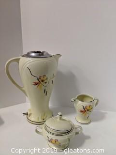 Vintage Foreman Brothers Coffee Pot Sugar & Creamer Set