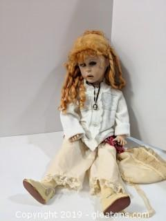 """24"""" Vintage Doll Red Long Hair """"Jaime Berard"""""""