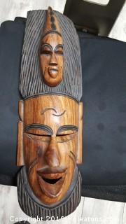 Hand Carved Wooden African Wall Art