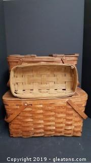 """Lot Of (3) Vintage """"Longaberger"""" Baskets"""
