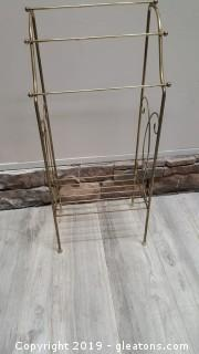 Vintage Small Space Saver Towel Rack For Bathroom