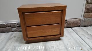 Small (2) Drawer Solid Wood Night Stand/Table