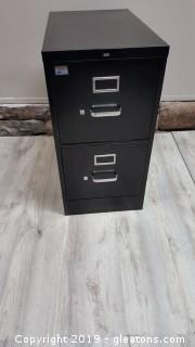 (2) Drawer Black Filing Cabinet/Metal