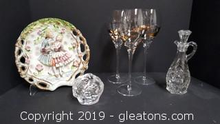 Lot Of Glassware Items