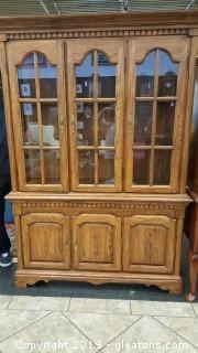 Beautiful China Cabinet With GLass Shelves