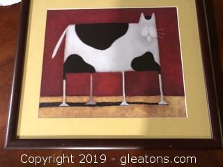 Framed Cat Print