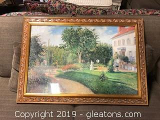 """Framed Landscape Print """"Gold Frame"""