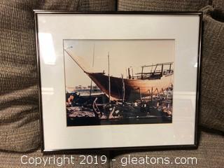 Framed Boat Yard Image