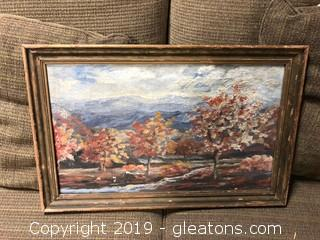 Fall Trees Painted Canvas