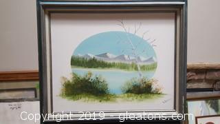 Framed Landscape Oil Painting By: B.Baker
