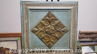 "Vintage Tin Celing Tile Art By The ""Tin Man"" Artist"