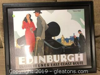 Pop Culture Framed Edinburgh Print