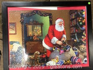 Framed Santa Claus Xmas Jigsaw Puzzle