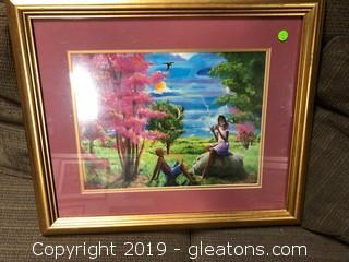 """Framed """"So So Pretty"""" Sency Print"""