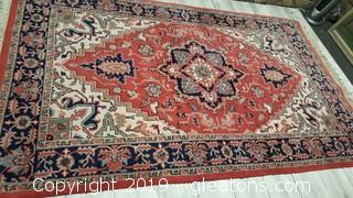 Hand Knotted Wool Area Rug LARGE