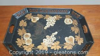 Vintage Mid Centry Metal Painted Tray