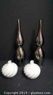 Set Of (2) Pair Contempary Vases