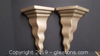 Jacqueline's Inc. Made In Canada Wall Shelf Sconces PR