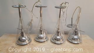 Set Of (4) Mid Centry Pendant Lights