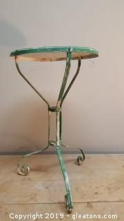Vintage Green Painted Outdoor/Side Table