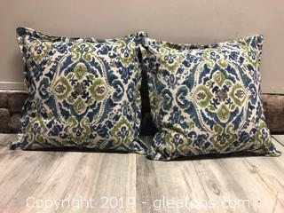 Pair Linen Down Pillows