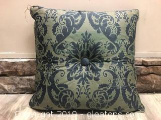 Vintage Damask Print Pillow