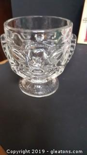 Vintage 240z Clear Glass Two Face Happy/Sad TIki Mug Mint!