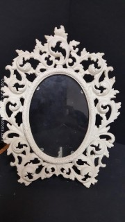 Vintage Chic Heavy Cast Iron Vanity Picture Frame