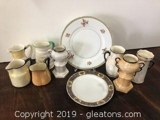 Lot of Opalescent Czechoslovakian Pottery from 1800's and on